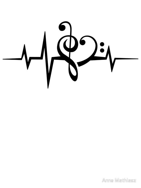 600x800 Music Heart Pulse, Love, Music, Bass Clef, Treble Clef, Classic