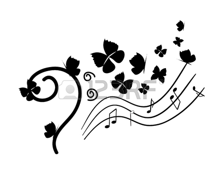 450x360 Seamless Pattern Musical Notes With Hand Drawn Elements