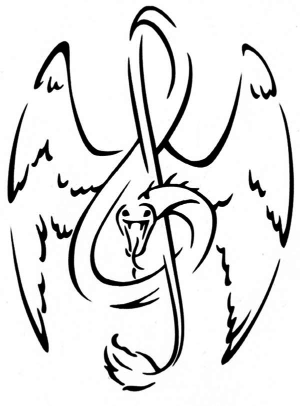 600x811 Treble Clef As Snake Tattoo Coloring Page Color Luna
