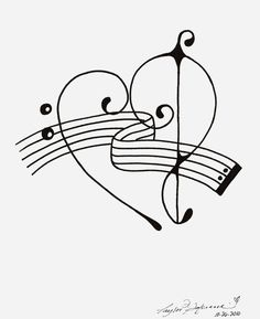 236x289 Watercolor Treble Bass Clef Heart Tattoos Clef
