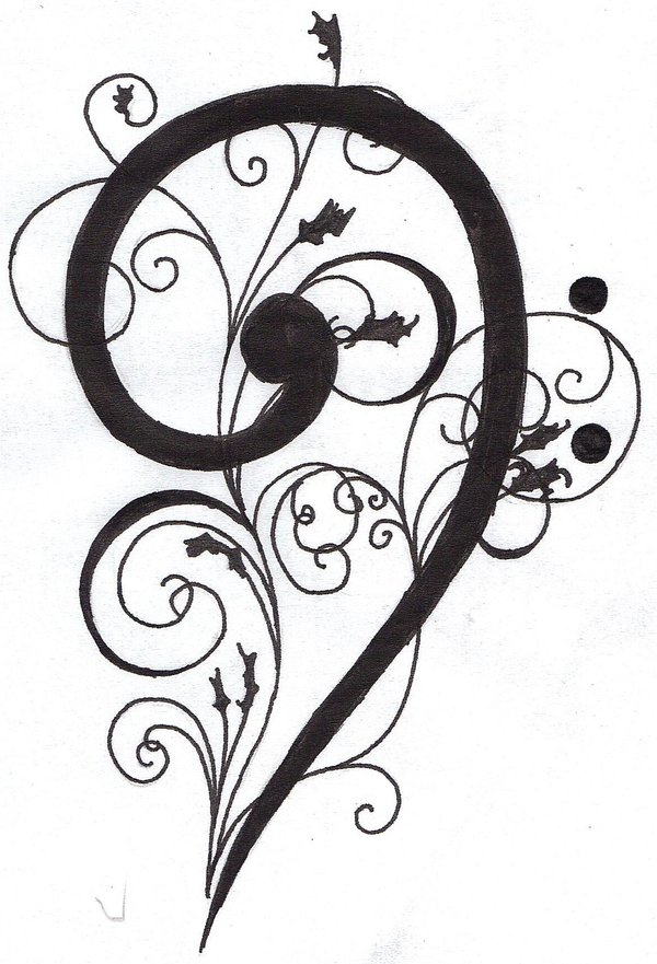 600x881 Bass Clef Tattoo Tatted Up Clef, Tattoo And Piercings