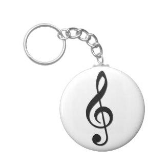 324x324 Bass Clef Keychains Zazzle