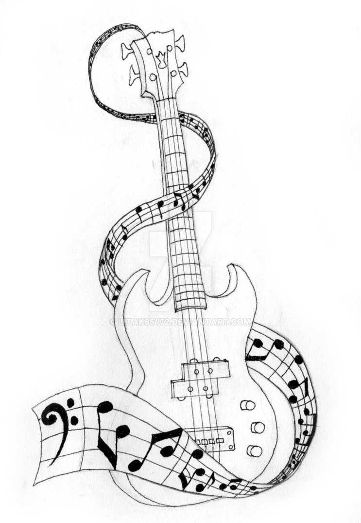 743x1075 Bass Guitar By Litak85472