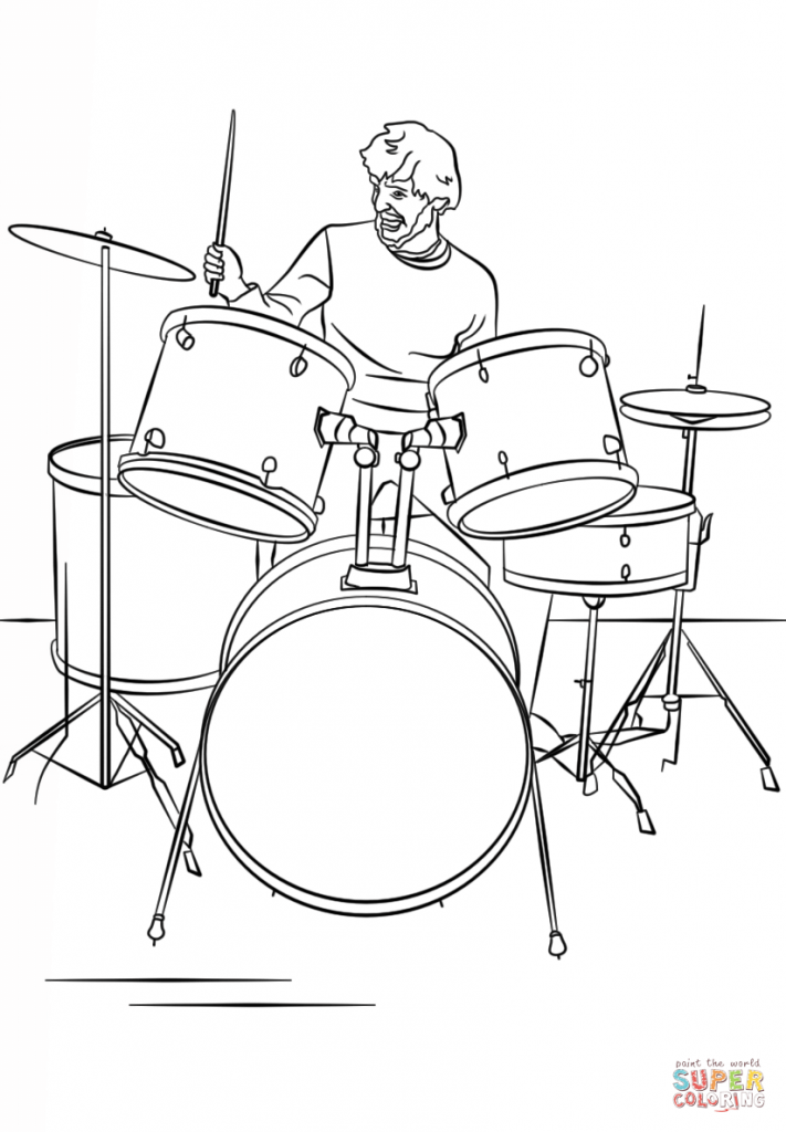 711x1024 Drums Coloring Page