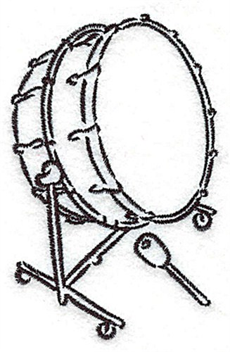327x500 Outlines Embroidery Design Bass Drum Outline From Adorable Ideas
