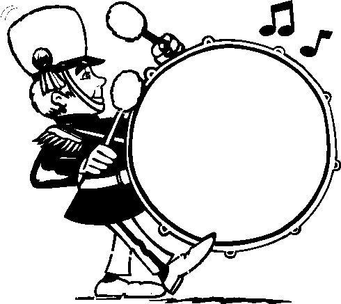 490x437 Unique Bass Drum Clipart