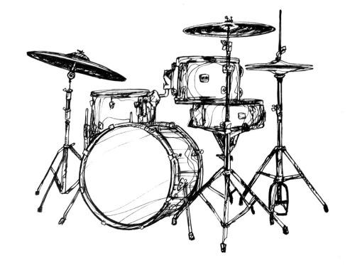 Bass Drum Drawing at GetDrawings | Free download