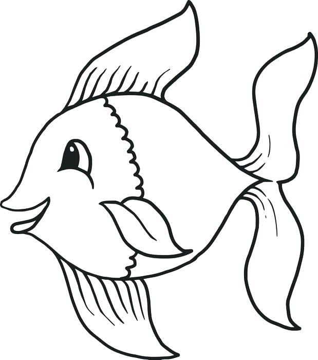 619x700 Delightful Fish Coloring Page Image Printable Pages Sheets Bass