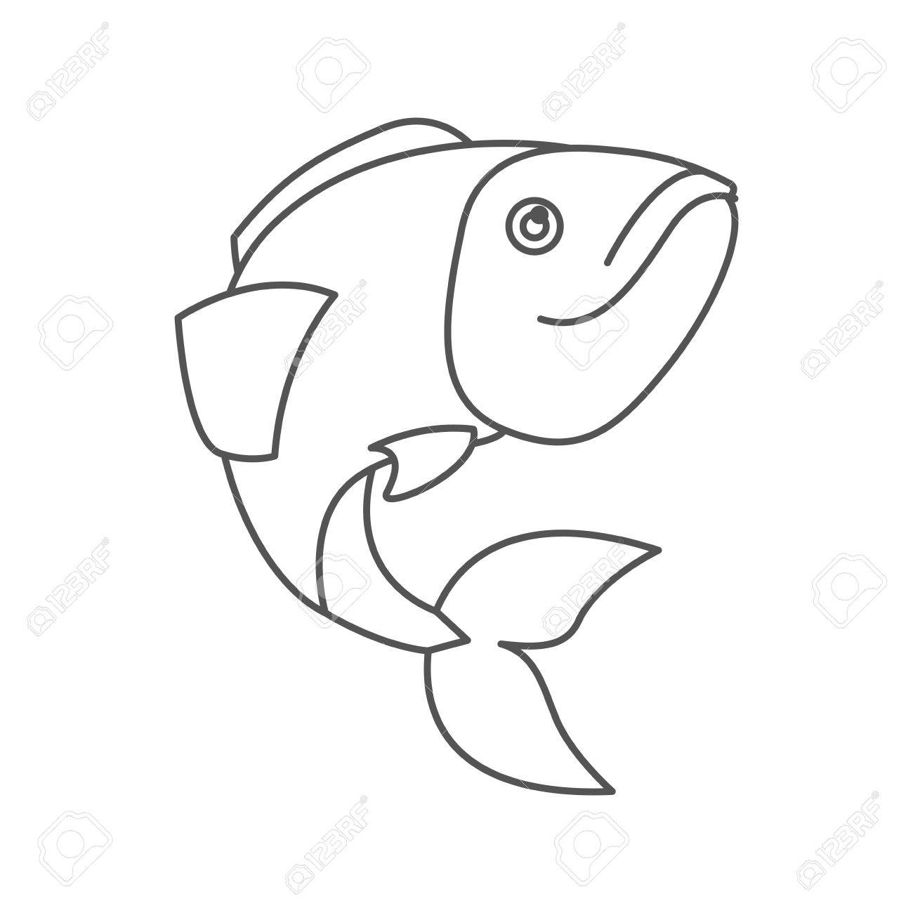 1300x1300 Sketch Silhouette Of Largemouth Bass Fish Vector Illustration