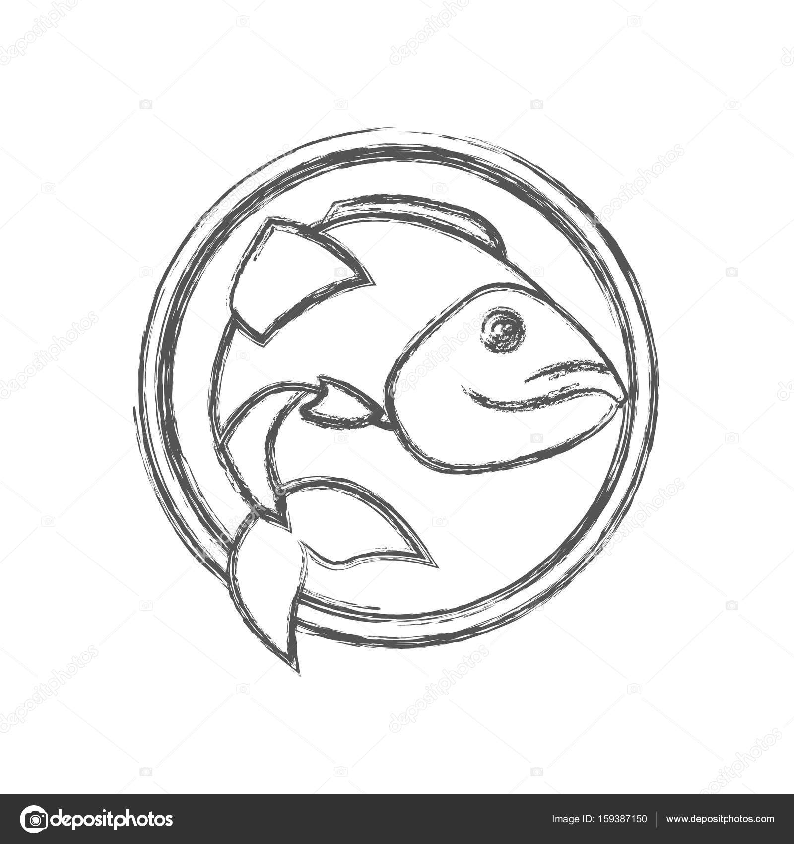 1600x1700 Blurred Sketch Silhouette Circular Emblem With Largemouth Bass