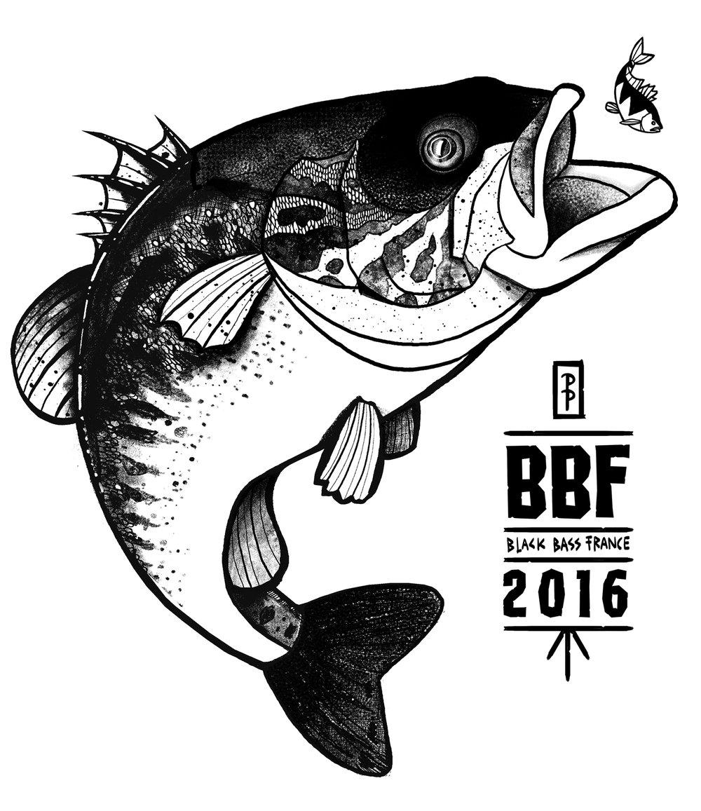 1000x1157 Black Bass France Shirt Peter Perch Fish Art