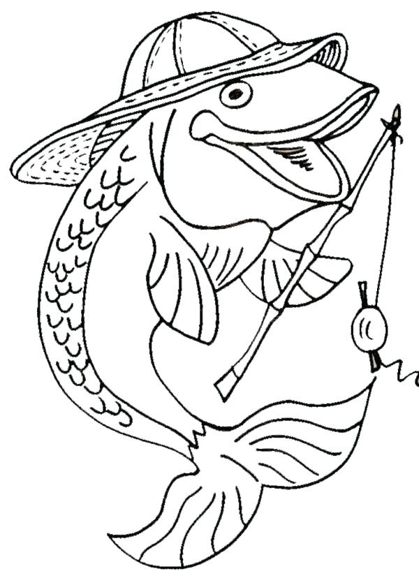 600x828 Amazing Fishing Coloring Pages Best Of Bass Fish L