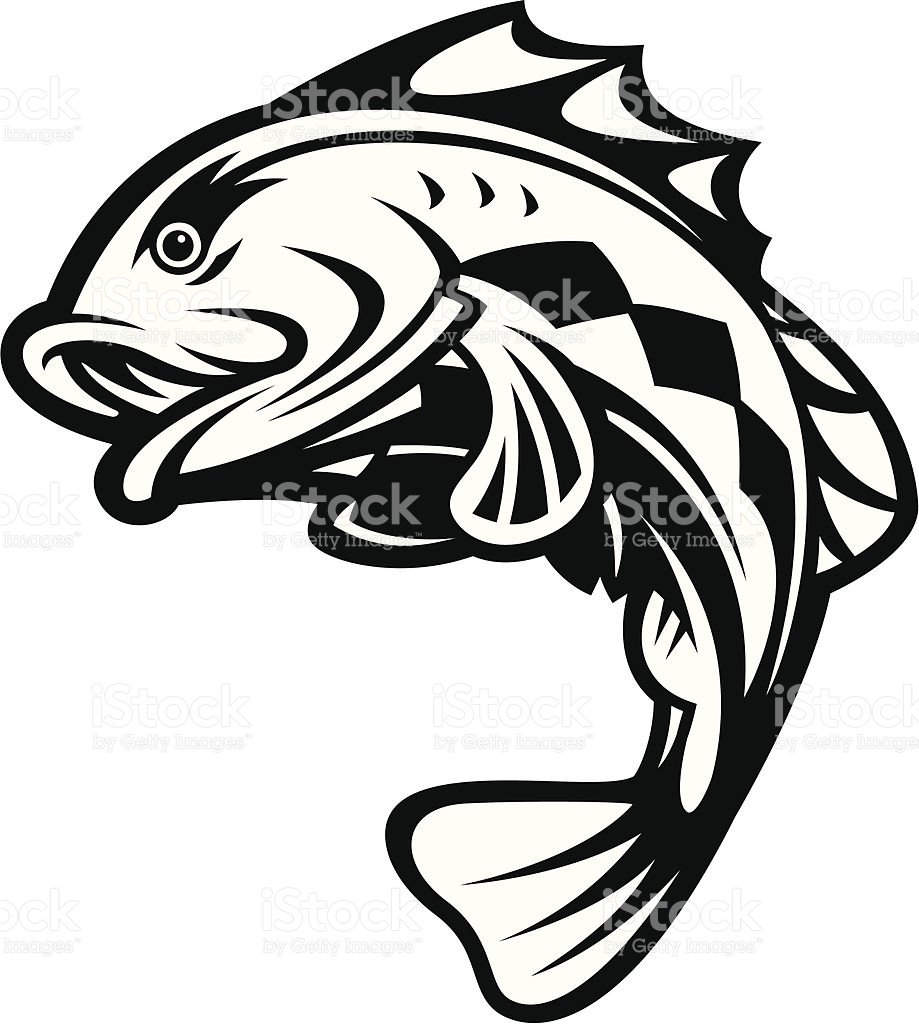 919x1024 Bass Fish Silhouette