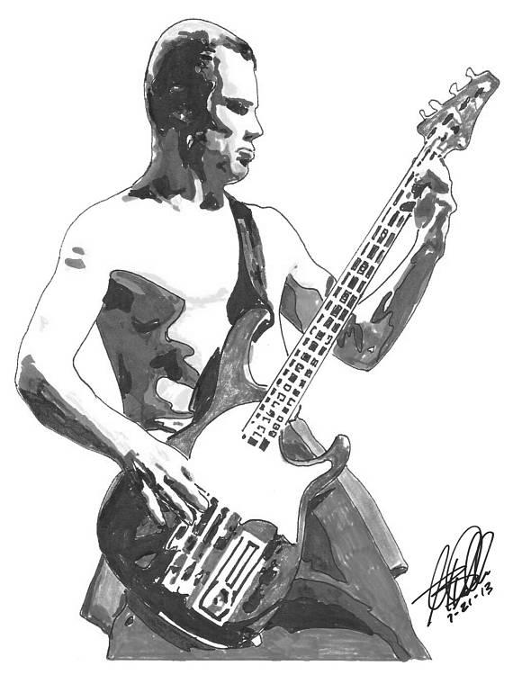 Bass Guitar Drawing At Getdrawings Com