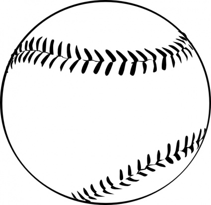 425x414 Bat And Ball Clipart