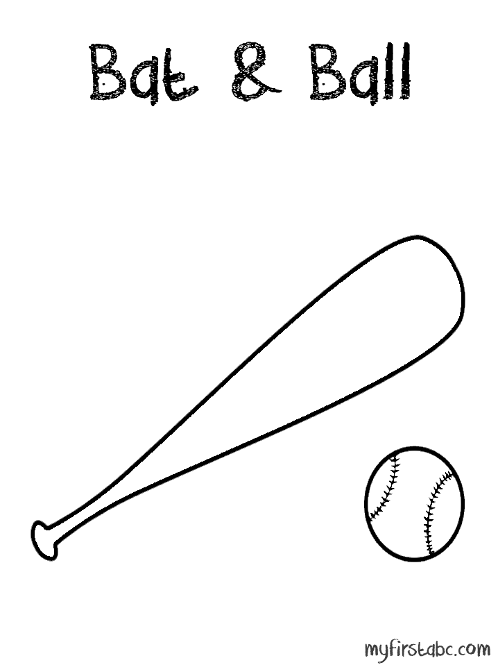 718x958 Bat Amp Ball Coloring Page