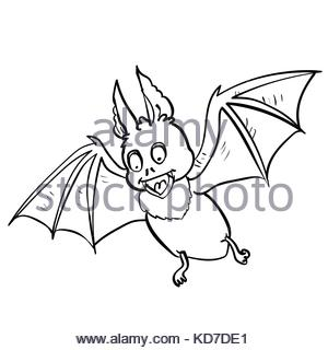 Bat Cartoon Drawing