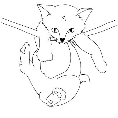 400x400 How To Draw Bat,spongebob And A Kitten 17 Steps