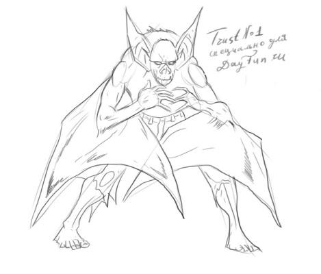 469x400 How To Draw A Bat Step By Step