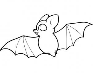302x238 How To Draw How To Draw A Bat For Kids