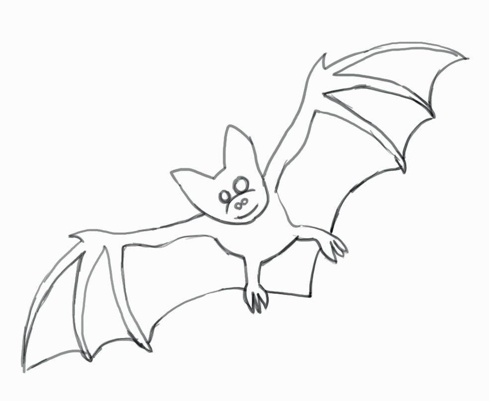 984x808 Bat Drawing