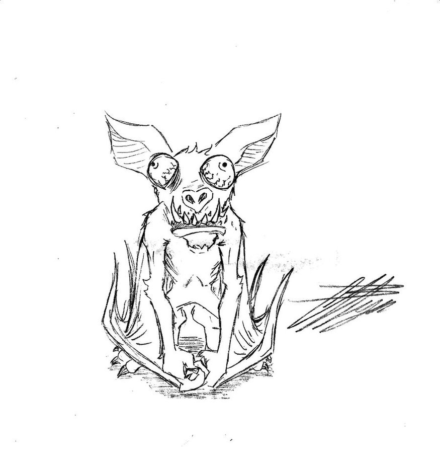 875x912 Creepy Bat By In The Change