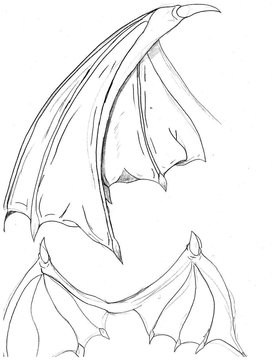 900x1165 Bat Wings Drawing Bat Wings By Cybololz Draw(Dragons