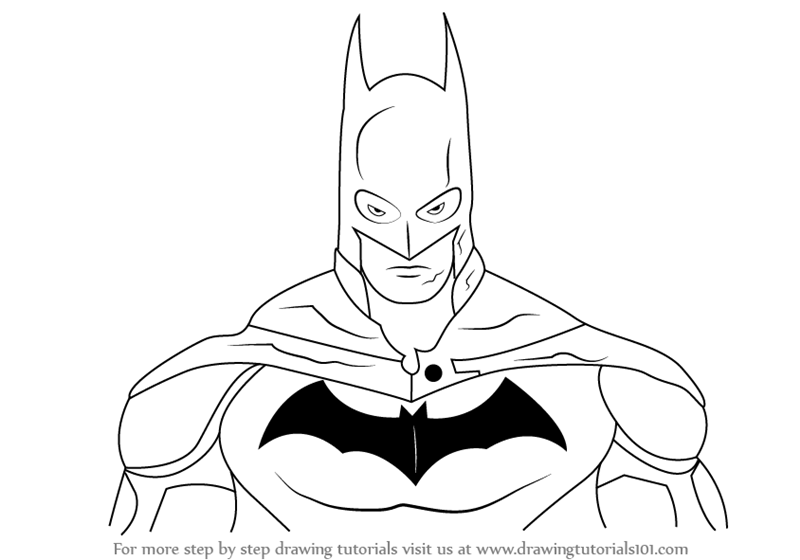 800x560 Learn How To Draw Batman Face (Batman) Step By Step Drawing