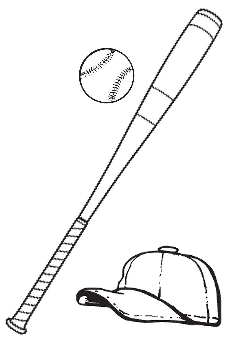889x1322 Top Baseball Bat Sketch Images For Clipart Image