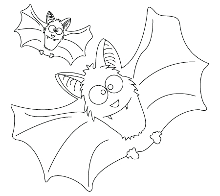 450x400 Drawing Of A Bat To Color
