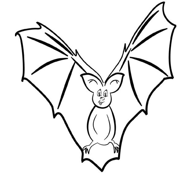 Bat Drawing Outline at GetDrawings | Free download