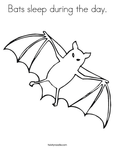 468x605 Bats Sleep During The Day Coloring Page