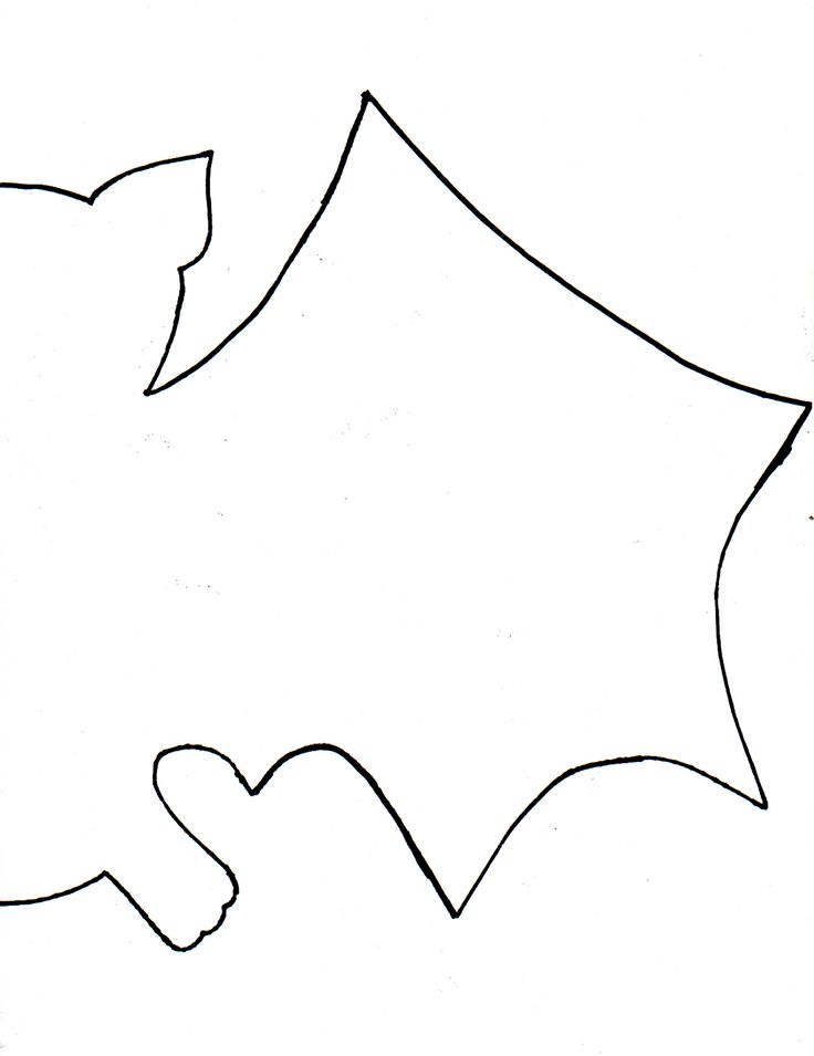 bat drawing template at getdrawingscom free for personal use bat - Halloween Art Templates