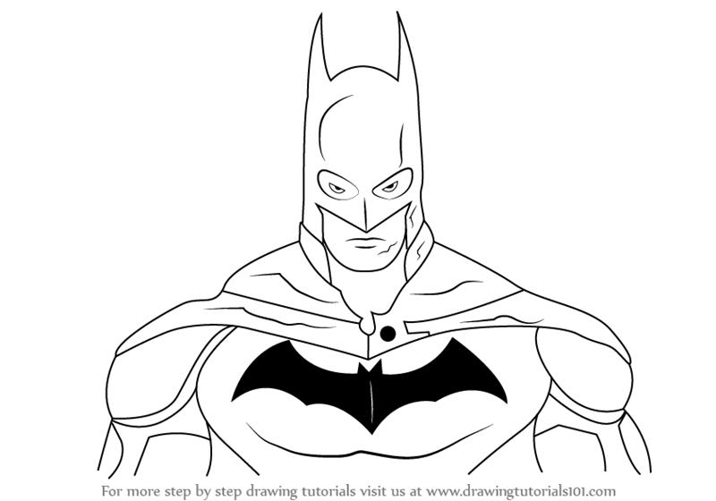 800x560 Batman Drawing Learn How To Draw Batman Face Batman Step Step