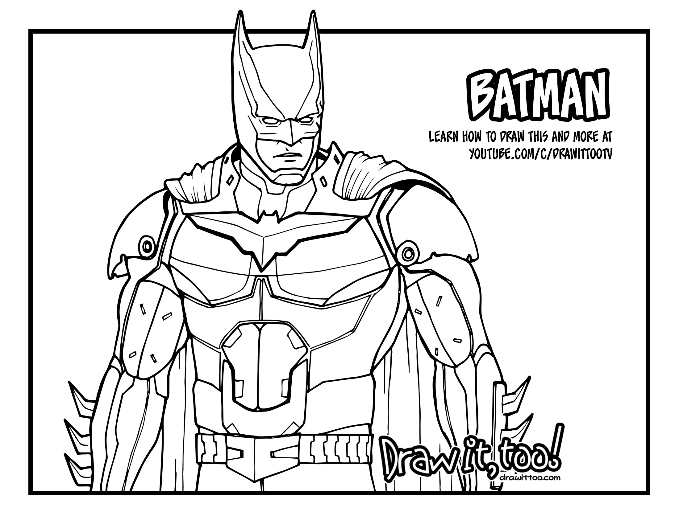 2200x1700 How To Draw Batman (Injustice 2) Narrated Easy Step By Step