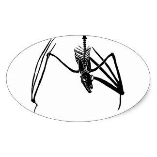 324x324 Black Flying Bat Stickers Zazzle