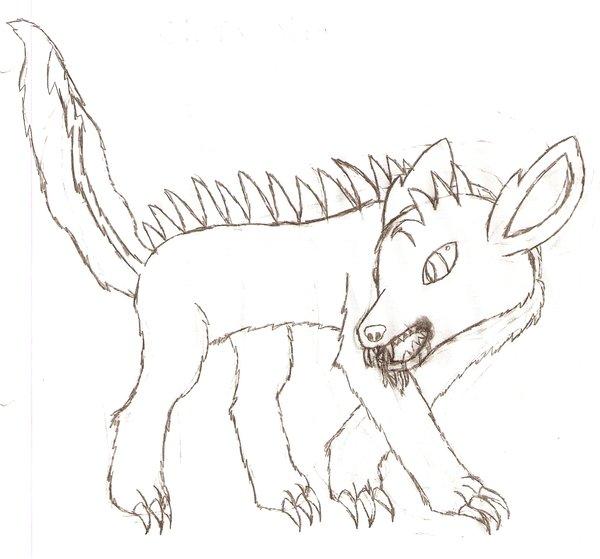 600x559 Chupacabra Drawing By Skeletonbat
