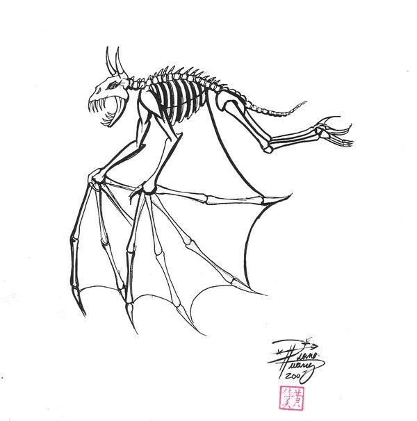 600x606 Draw A Demon Bat By Diana Huang Drawing Bats