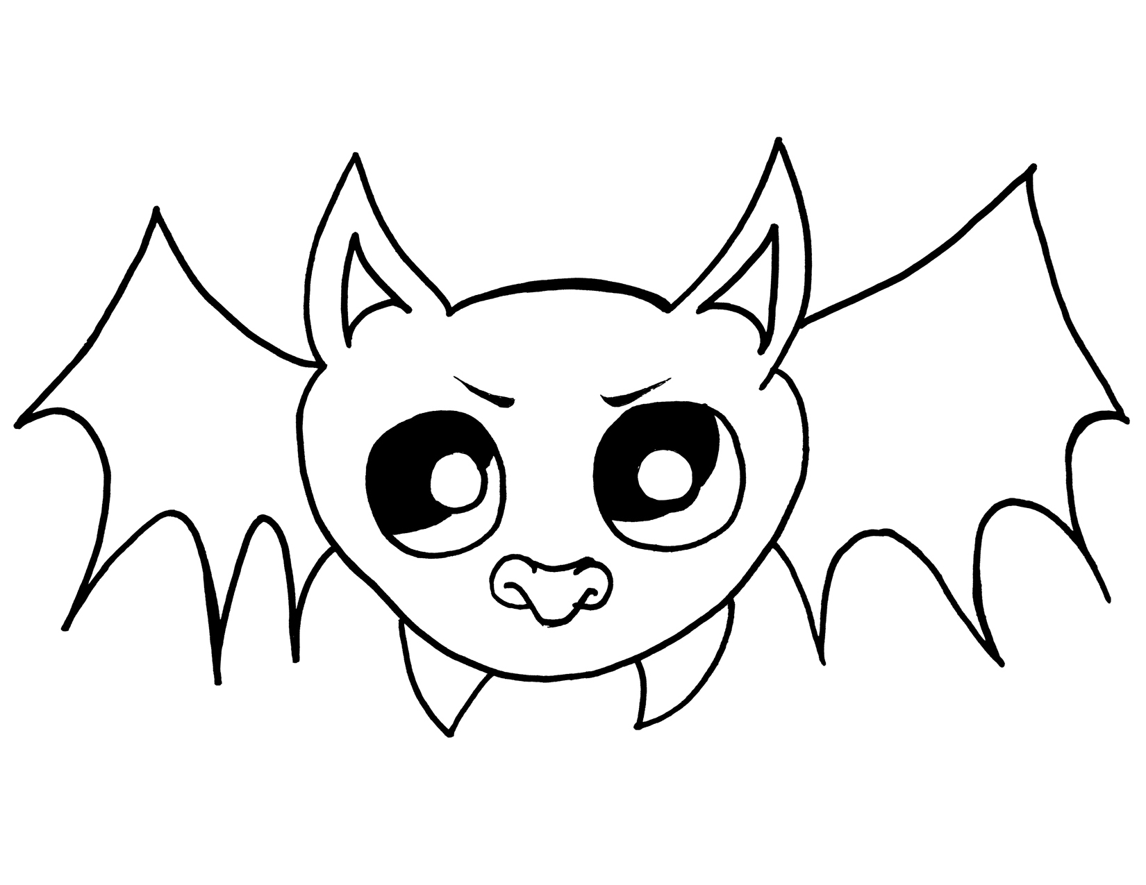 1650x1275 Halloween Bat Drawings Festival Collections
