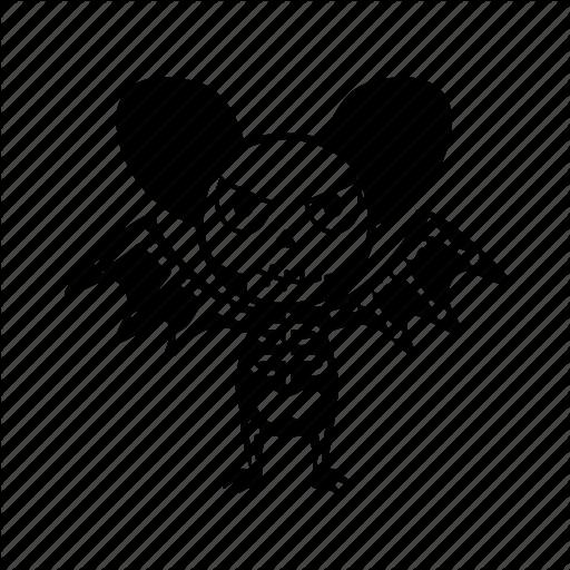 512x512 Bat, Cartoon, Character, Evil, Halloween, Monster, Skeleton Icon