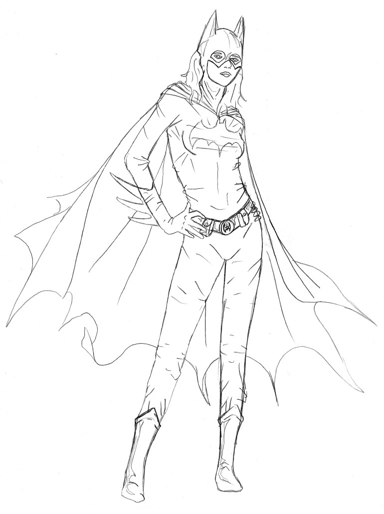 free batgirl coloring pages | Batgirl Drawing at GetDrawings.com | Free for personal use ...