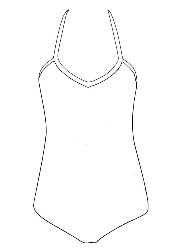 620x875 Coloring Page Bathing Suit
