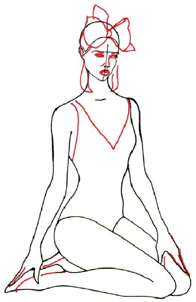 400x616 How To Draw A Woman In A Bathing Suit In 5 Steps Bathing Suits