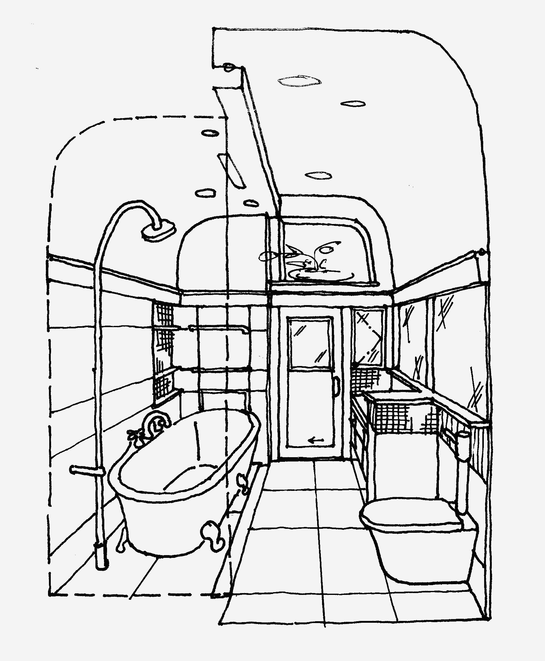 1782x2160 Bathroom Top Sketch Of A Bathroom Home Design Ideas Photo