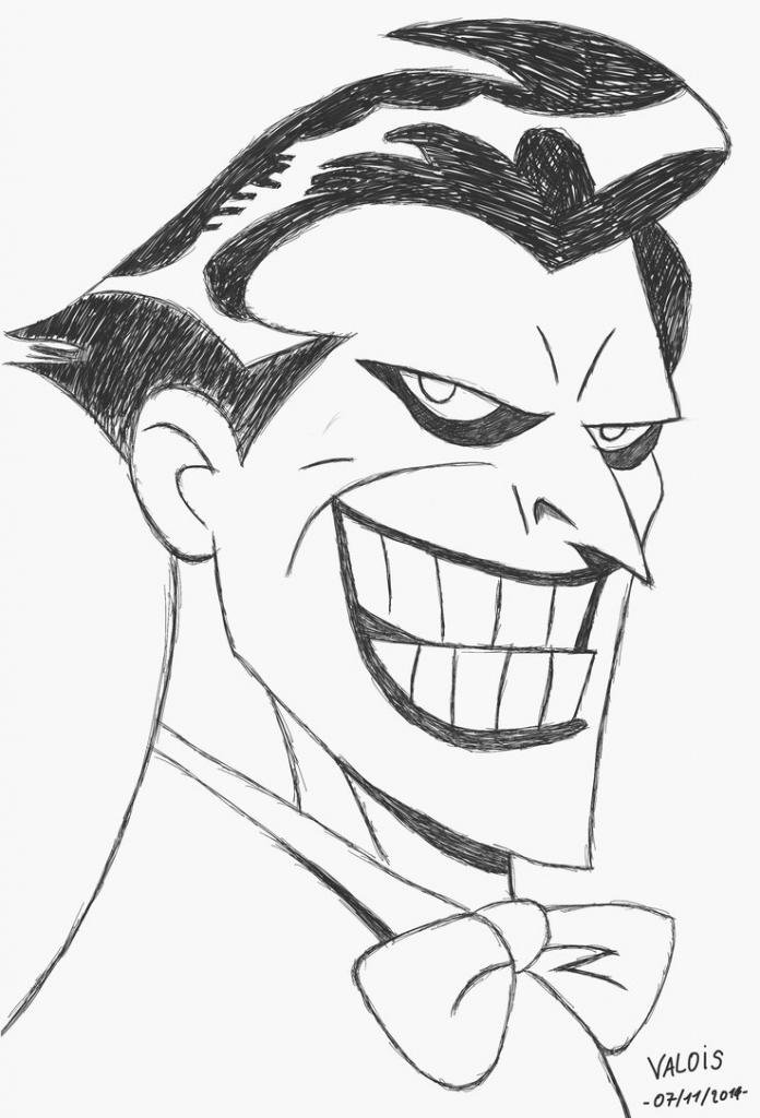 696x1024 Gallery The Joker Cartoon Drawing,