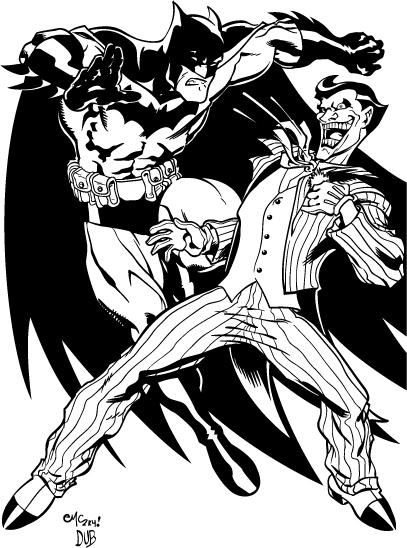 407x548 Mcguinness Batman Vs Joker By Dubbery