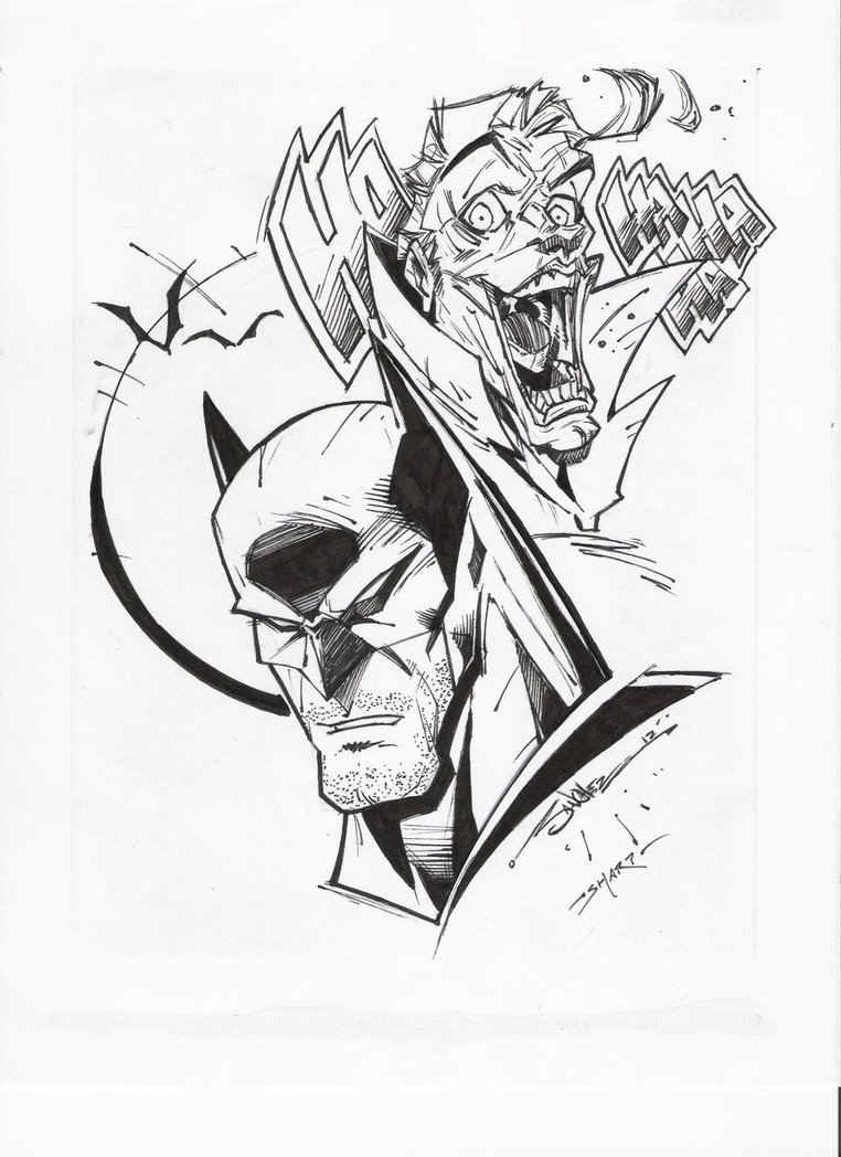 762x1048 Steven Sanchez's Batman Joker Inks By Fanboy67