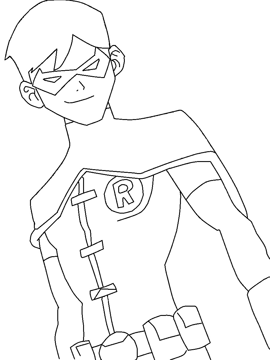 900x1200 Young justice nightwing drawings Young Justice Robin Coloring