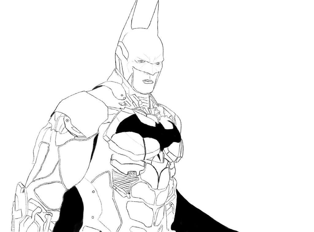 1024x759 Batman Arkham Knight Batman Sketch By Popcultureart