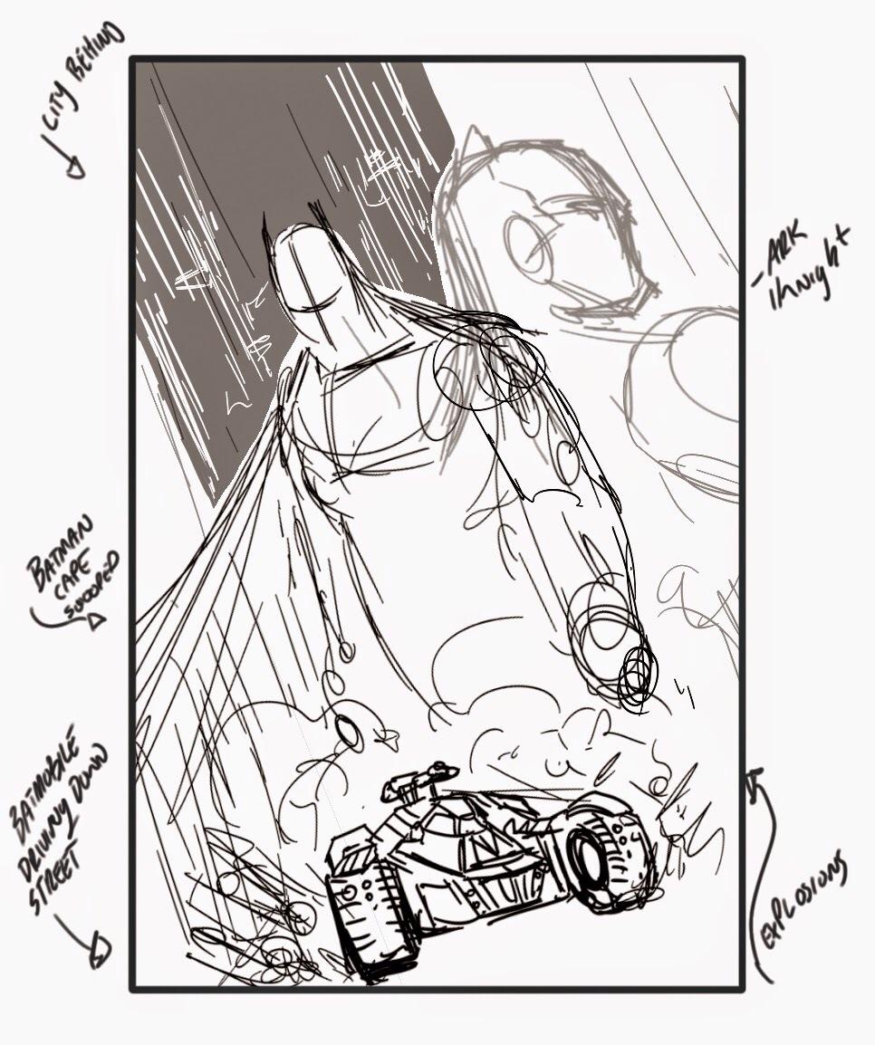 966x1154 Batman Arkham Knight Ce Comic Cover Development
